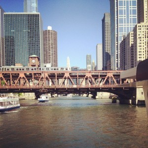 Chicago river and bridges!