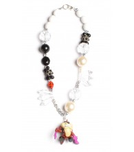 Tasmanian Devil Black & White Necklace