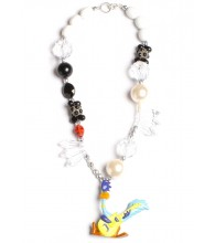 Road Runner Black & White Necklace