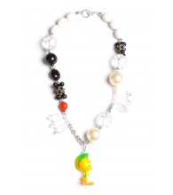 Tweety Bird Black & White Necklace