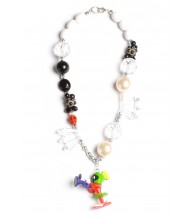 Marvin the Martian Black & White Necklace