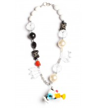 Sylvester Jr. Black & White Necklace