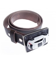 Car Belt Buckle with Leather Belt